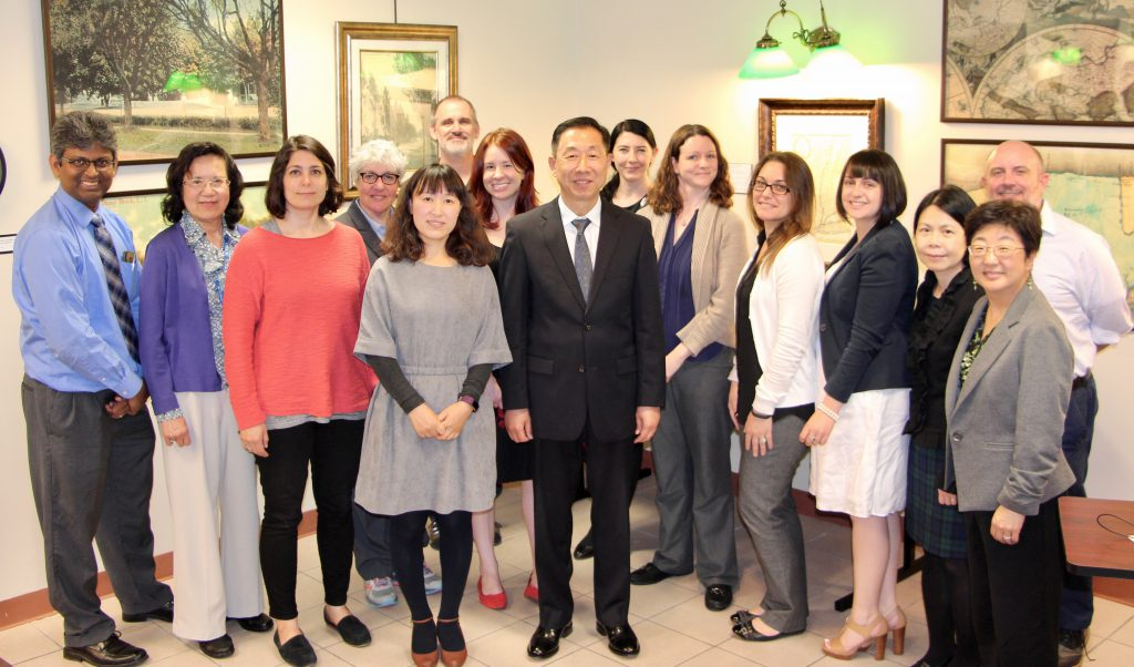 Ning Jia with SBU Librarians
