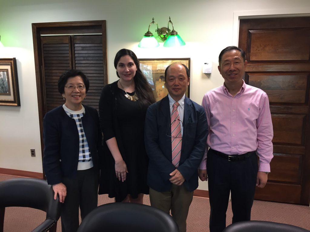 Mr. Yoji Nishigaya with SBU librarians