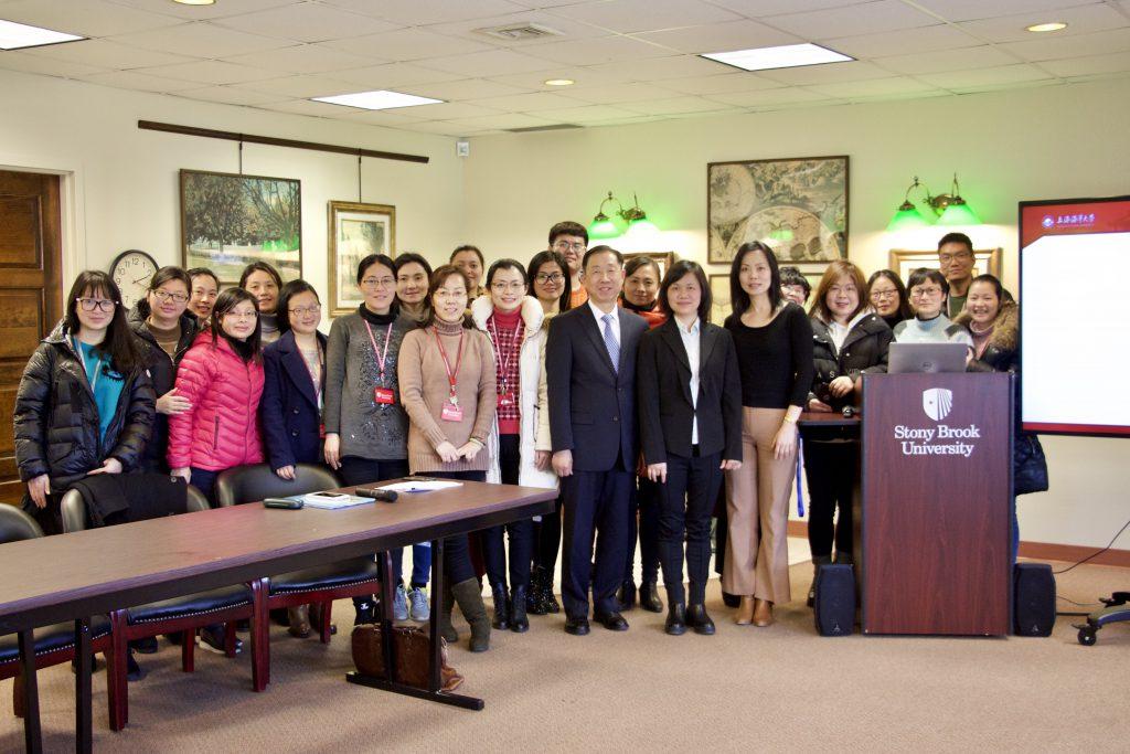 Ms. Qian Xu with guests