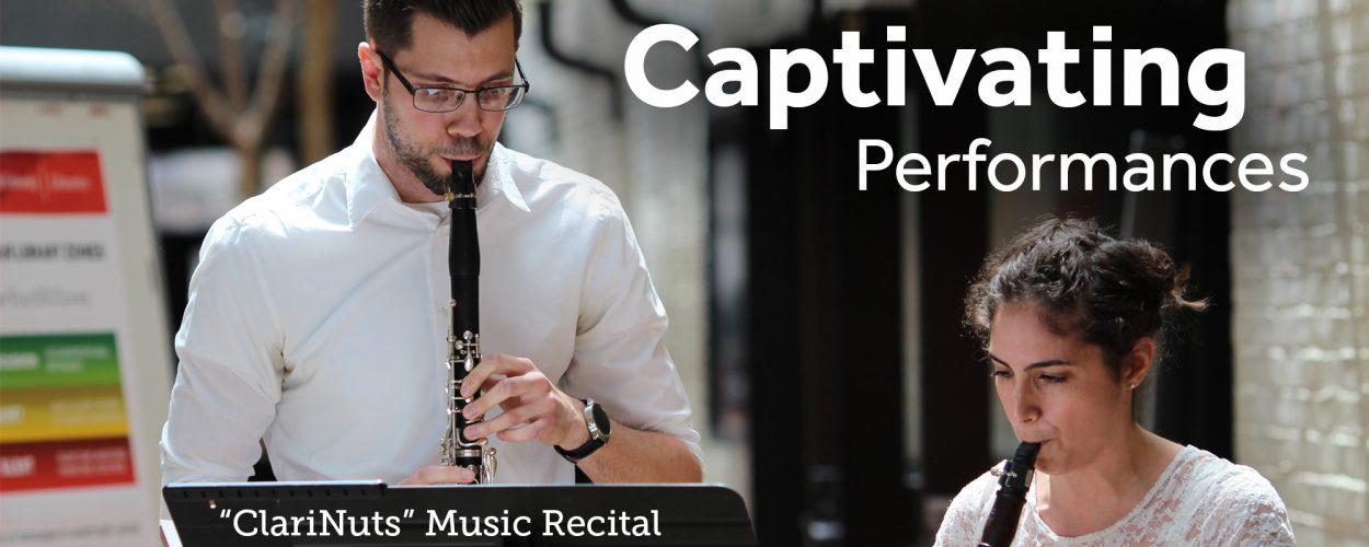 ClariNuts music recital in Melville Galleria