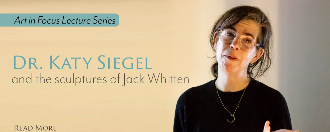 Art in Focus Series: Katy Siegel on Jack Whitten