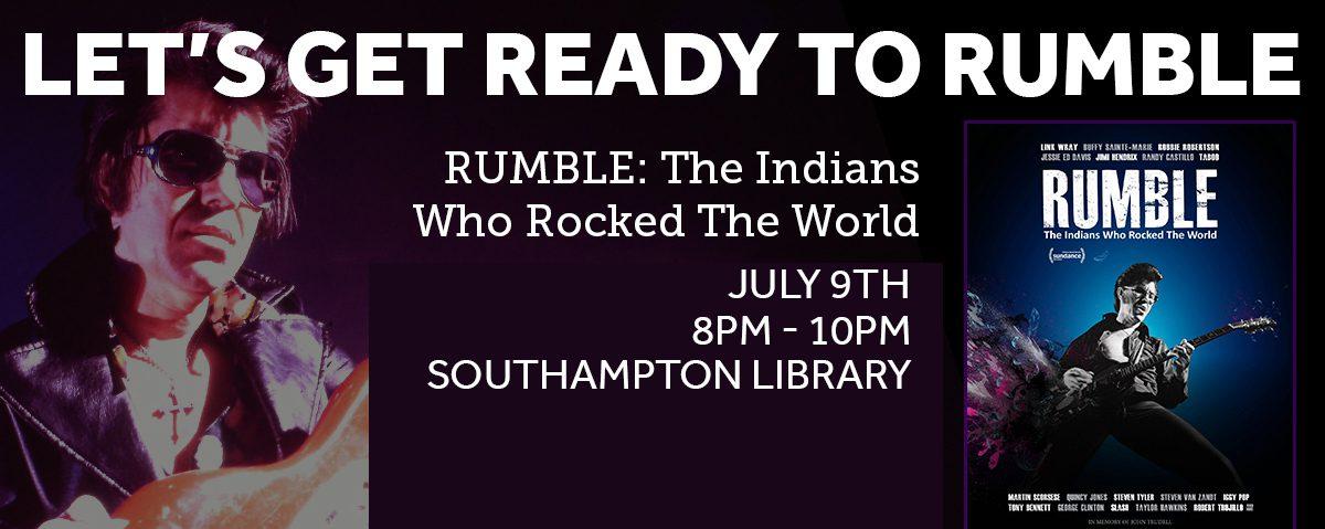 RUMBLE screening at Southampton Library