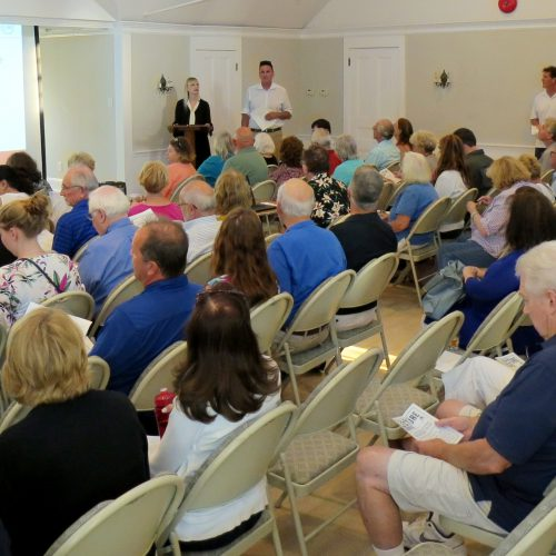 Washington lecture and letter viewing, Neighborhood House, Setauket, July 16, 2018. Photo credit: Beverly C. Tyler.