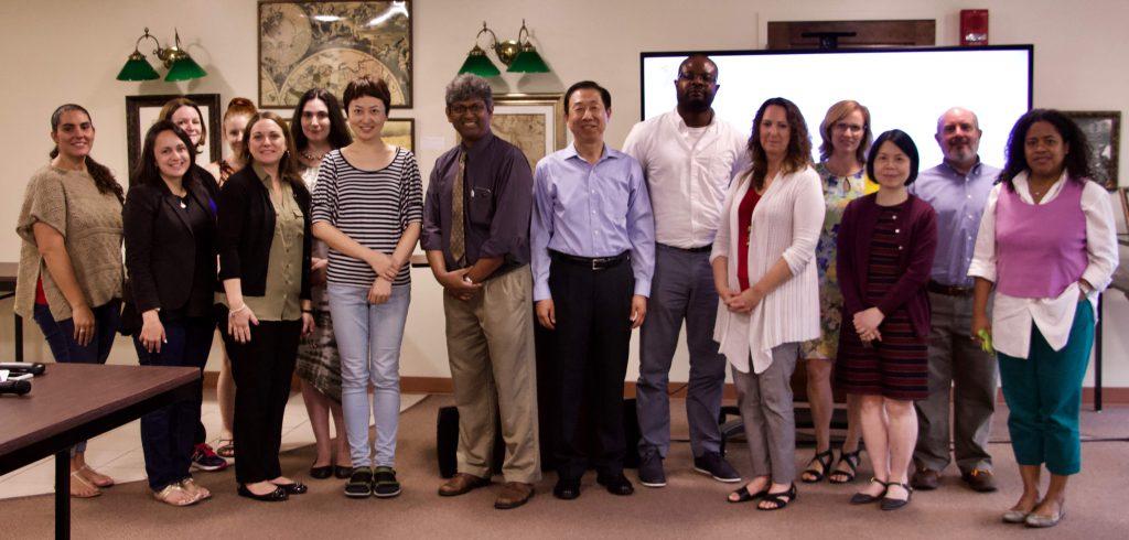Yizhou Lu in group photo