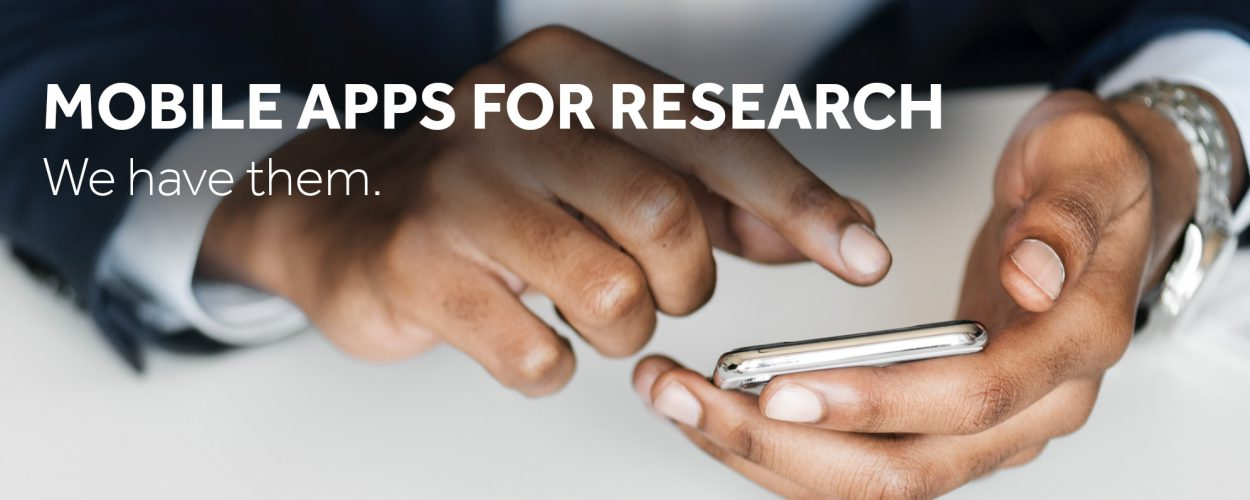 Mobile apps for research