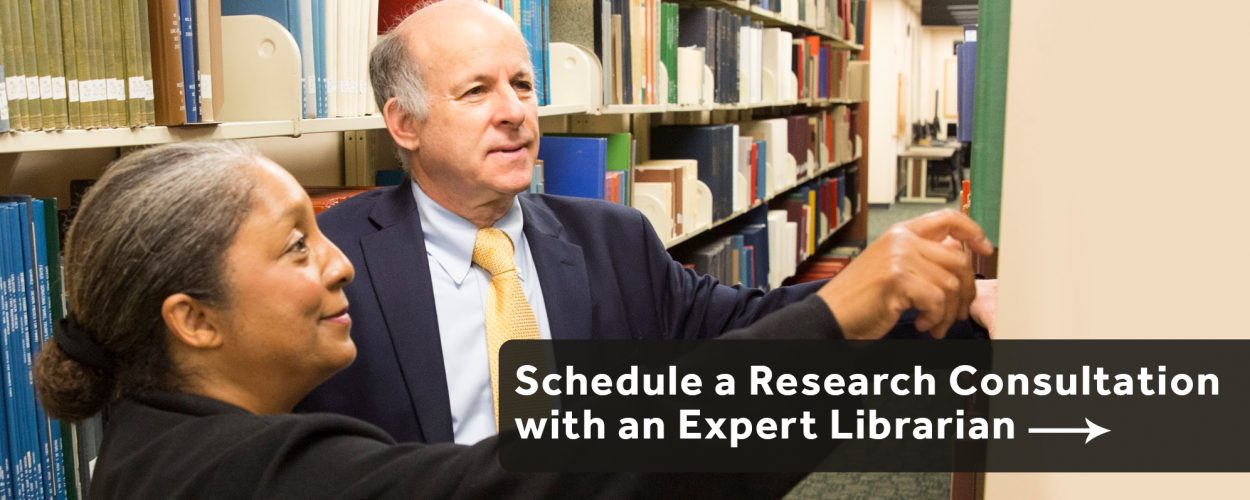 Schedule a research consultation with an expert librarian