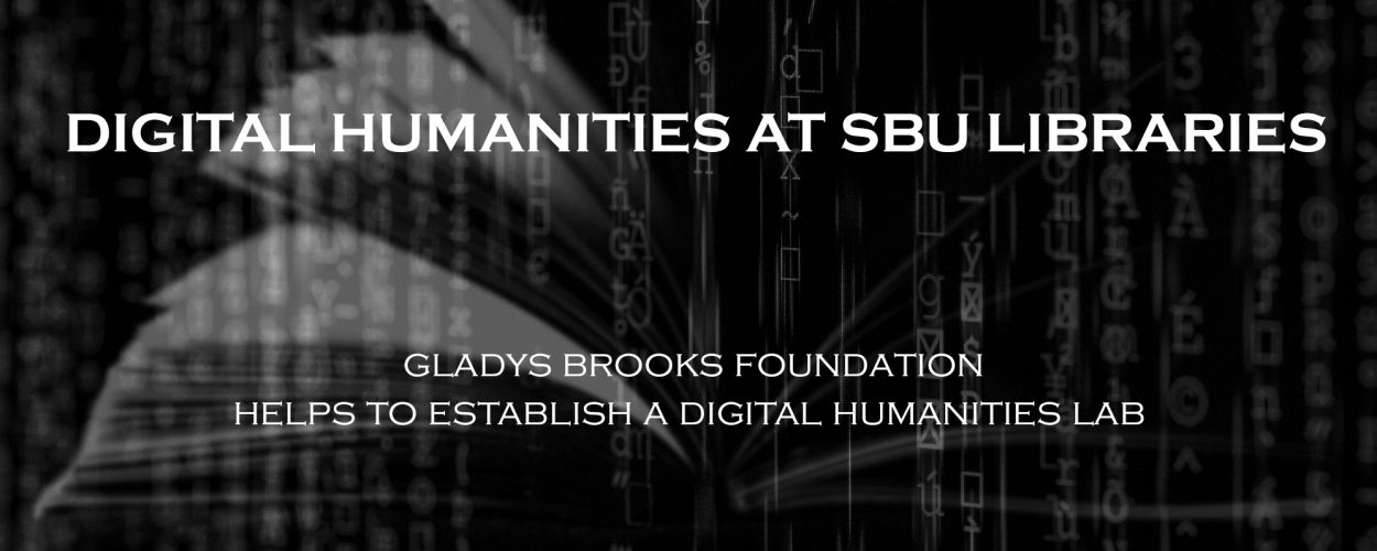 Digital humanities at SBU graphic