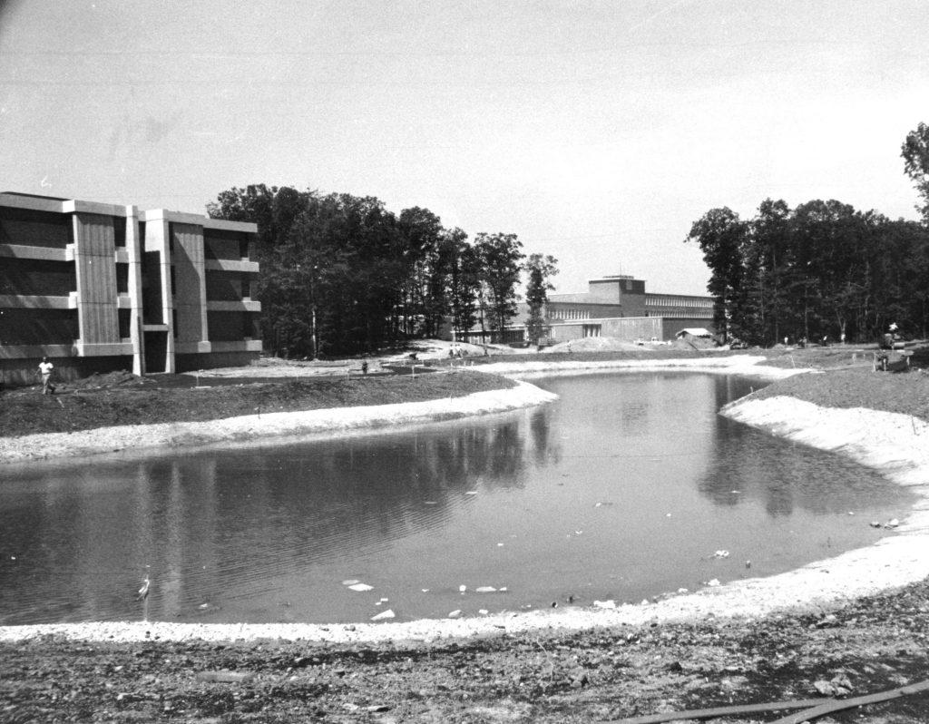 Roth Quad, circa 1969.   Credit: University Archives, SBU Libraries.