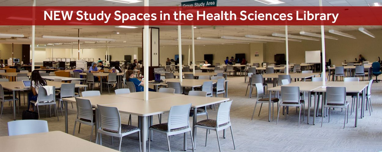 New study spaces in the Health Sciences Library
