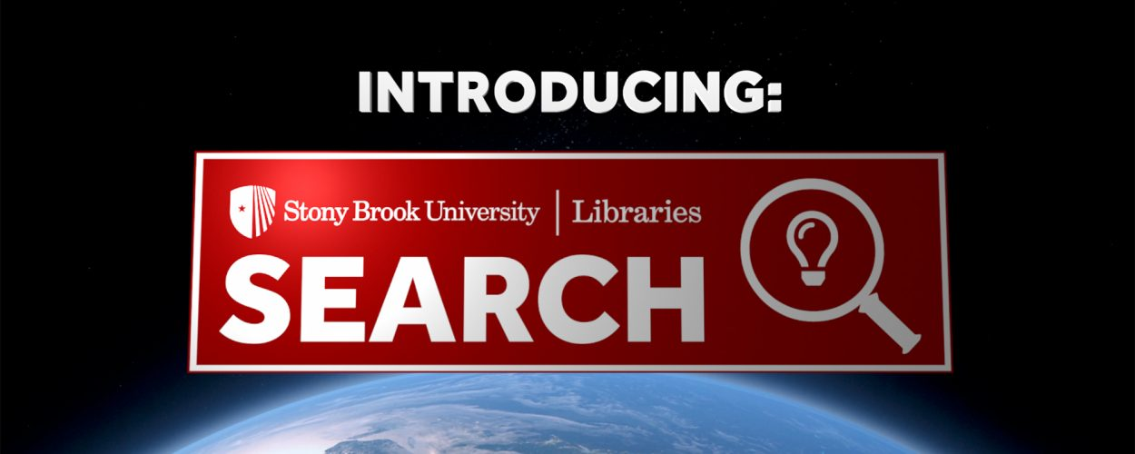 Logo introducing SBU Libraries' new search tool
