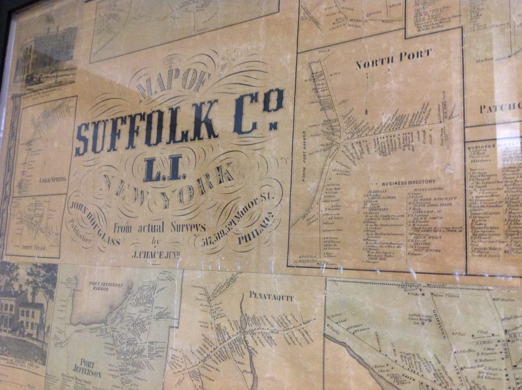 Chace, J., Douglass, J., & Smith, R. P. (1858).  Map of Suffolk County, L.I., N.Y: From actual surveys.