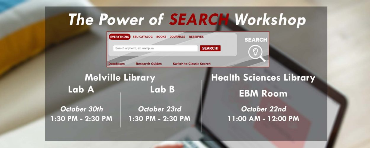 The Power of SEARCH workshops