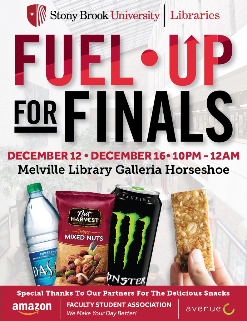 promotional graphic for fuel up for finals