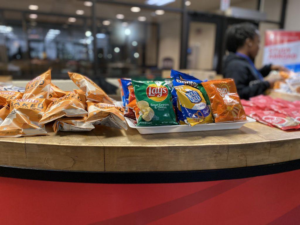 Snacks on display
