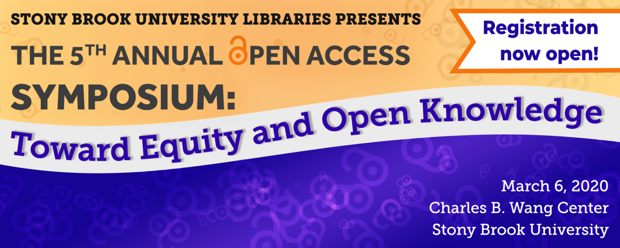 5th Annual Open Access Symposium Registration, March 6th, Charles B. Wang Center