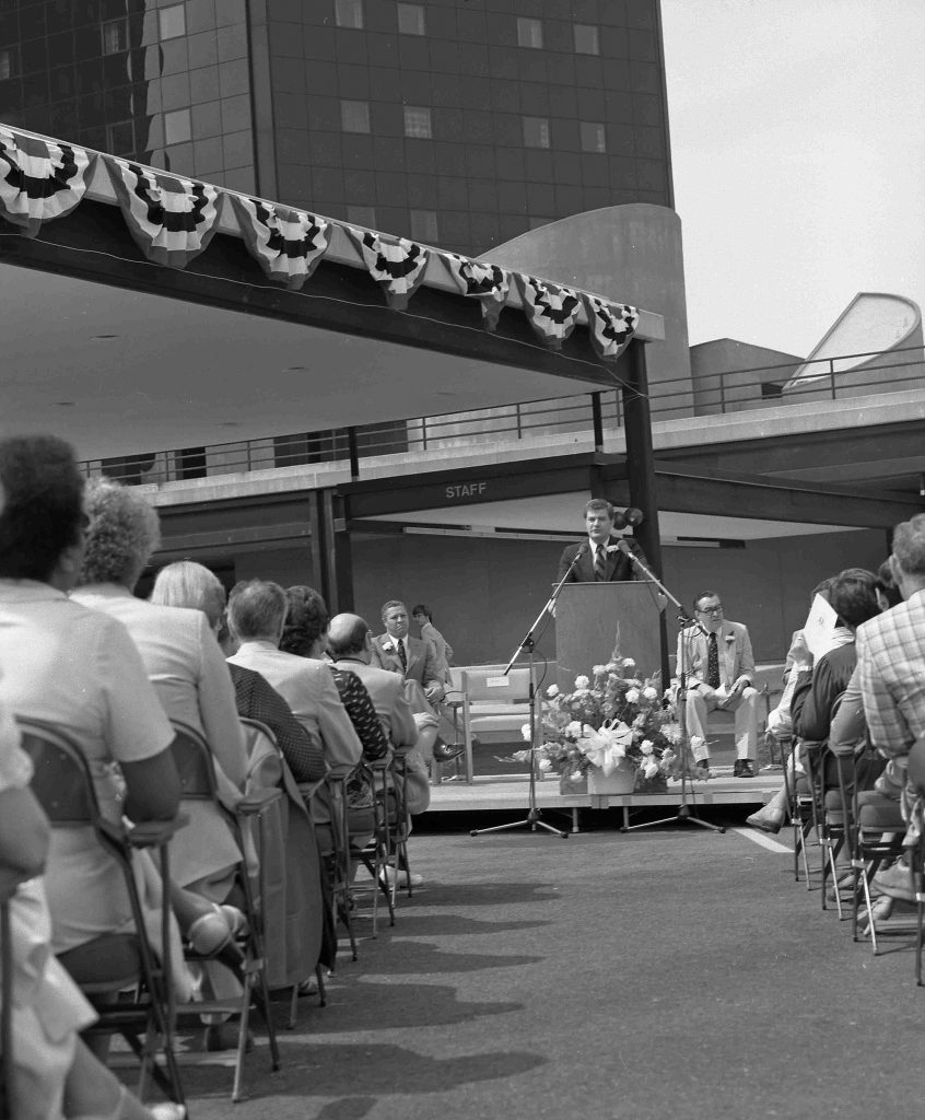 Dedication of University Hospital, May 24, 1980.  Source: University Archives.