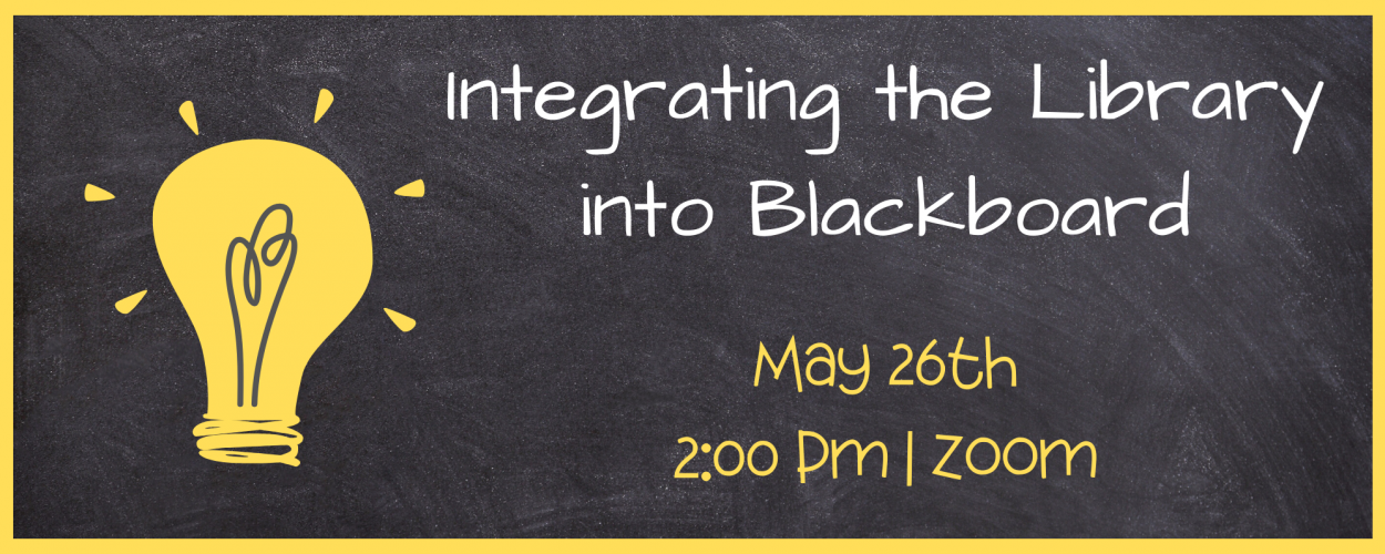 Integrating the Library Into Blackboard