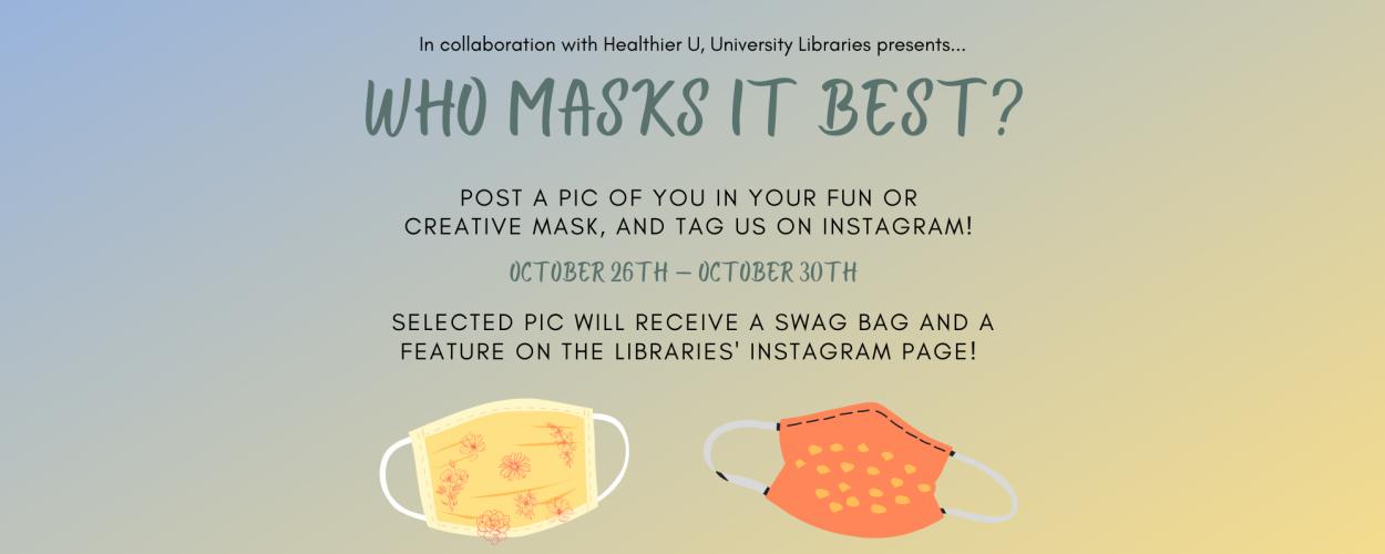 Who masks it best?