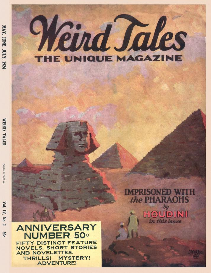 The cover of Weird Tales magazine from May-July, 1924.