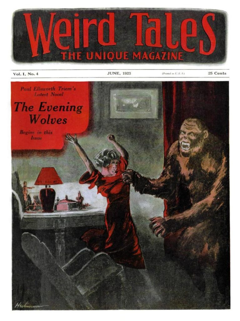 The cover of Weird Tales magazine from June 1923.