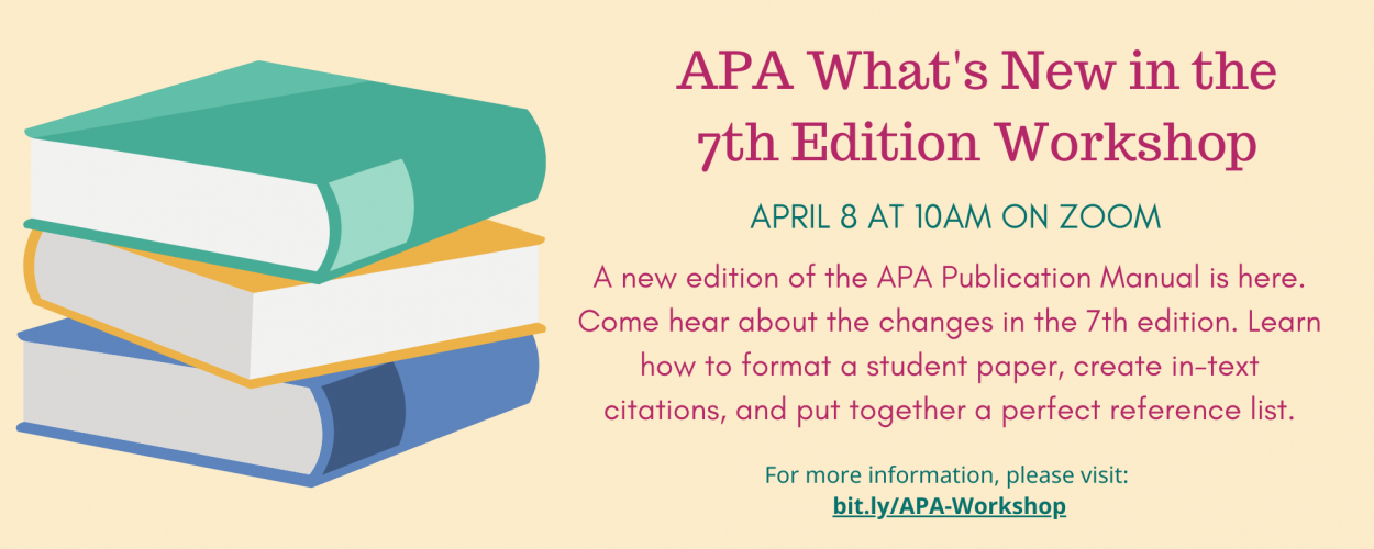 APA What's New in the 7th Edition Workshop