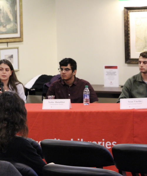 Panel of undergraduate students