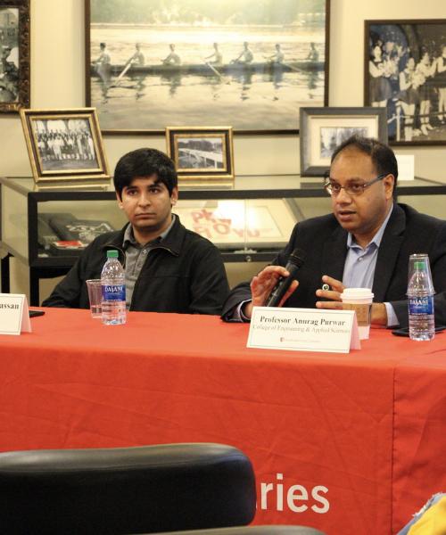Professor Purwar speaking