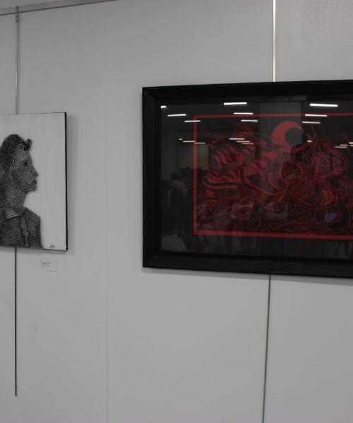 Student Artwork displayed during Art Crawl