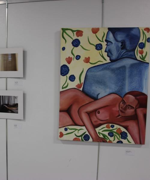 Student artwork at Art Crawl