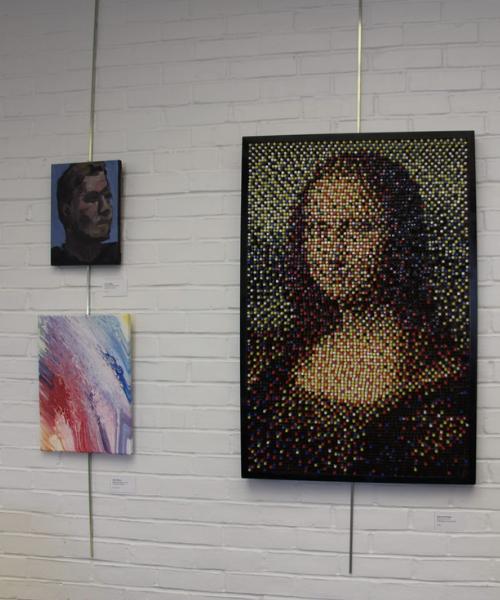 Mona Lisa student painting and more at Art Crawl