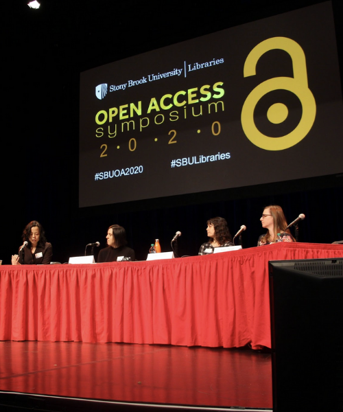 Panel of speakers at Open Access Symposium
