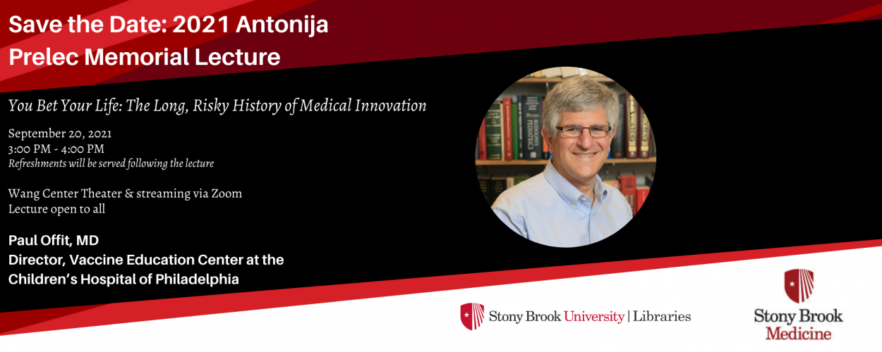 Paul Offit Announced as the 2021 Antonija Prelec Visiting Scholar