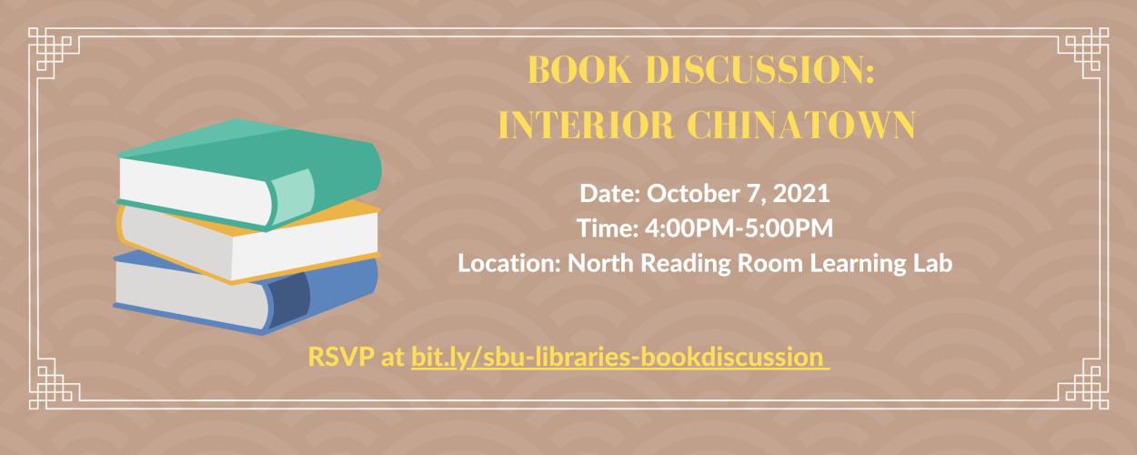 Book Discussion: Interior Chinatown